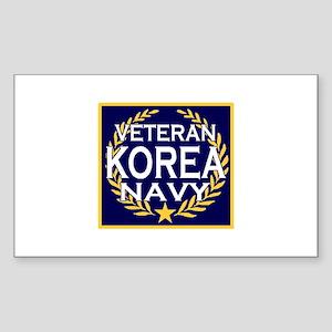 NAVY VETERAN KOREA Rectangle Sticker