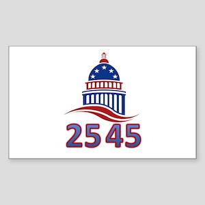 25th Amendment the 45th Presid Sticker (Rectangle)
