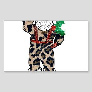african leopard santa claus Sticker