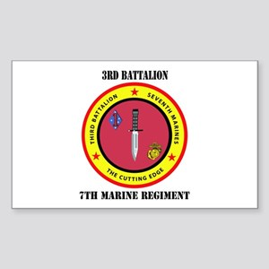 2nd Battalion 7th Marines Sticker (Rectangle)