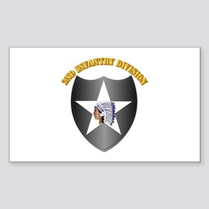 SSI - 2nd Infantry Division with Text Sticker (Rec
