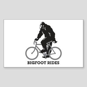 Bigfoot Rides Sticker (Rectangle)