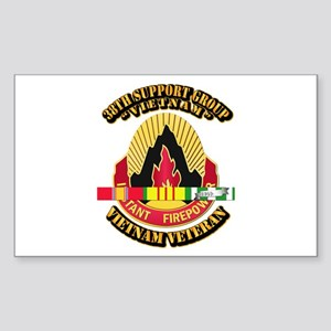38th Support Group w SVC Ribbon Sticker (Rectangle