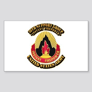 38th Support Group with Text Sticker (Rectangle)