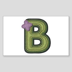 B Spring Green Rectangle Sticker