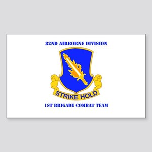 DUI - 1st BCT with Text Sticker (Rectangle)