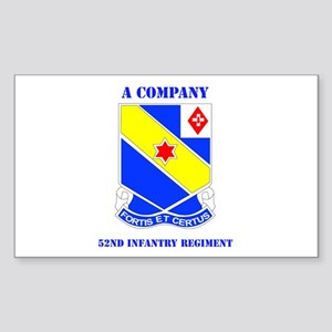 DUI - A Company - 52nd Infantry Regt with Text Sti