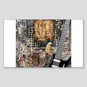 Guitar Love Guitarist Music Design Sticker
