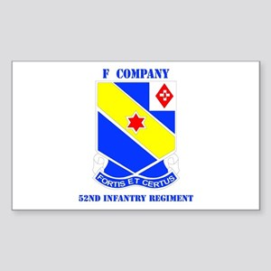 DUI - F Company - 52nd Infantry Regt with Text Sti