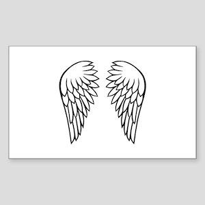 Angel wings Sticker (Rectangle)