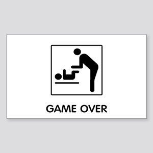 Game Over Sticker (Rectangle)