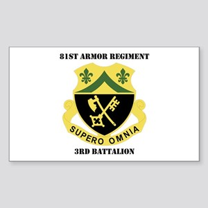 DUI - 3rd Bn - 81st Armor Regiment with Text Stick