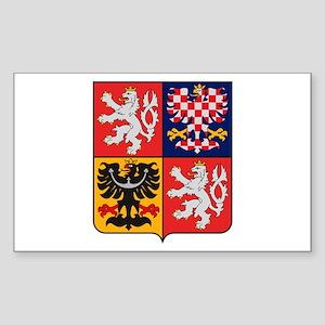 Czech Republic Coat of Arms Rectangle Sticker
