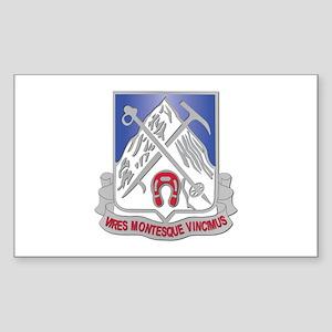 DUI - 2nd Bn - 87th Infantry Regiment Sticker (Rec