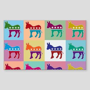 Pop Art Democrat Donkey Logo Sticker