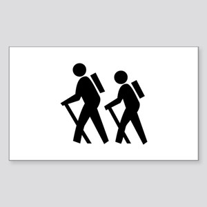 Hiking Rectangle Sticker