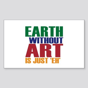 Earth Without Art Sticker (Rectangle)