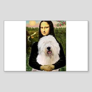Mona's Old English Sheepdog Sticker (Rectangle)
