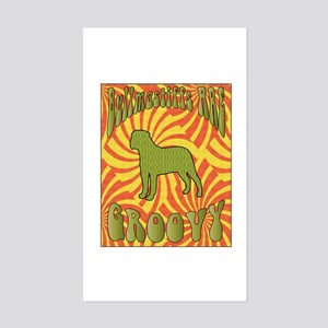 Groovy Bullmastiffs Rectangle Sticker