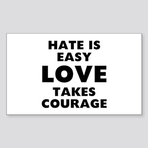 Hate Love Sticker (Rectangle)