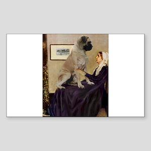 Mom's Bull Mastiff Sticker (Rectangle)