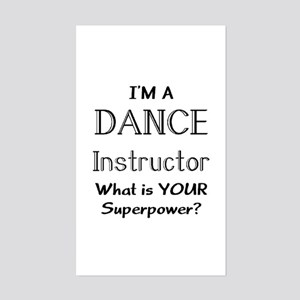 dance instructor Sticker (Rectangle)