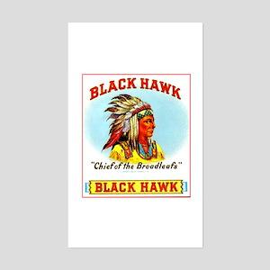Black Hawk Chief Cigar Label Sticker (Rectangle)