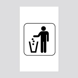 Trash Rectangle Sticker