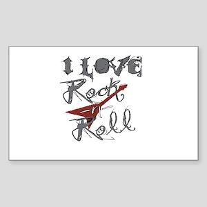 I Love Rock-n-Roll Rectangle Sticker