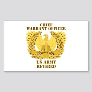 Army - Emblem - CWO Retired Sticker (Rectangle)