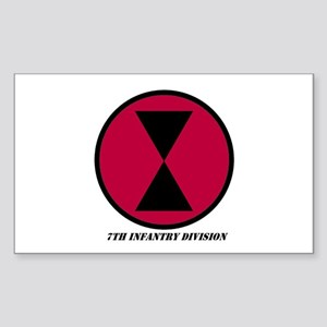 7th Infantry Division Rectangle Sticker