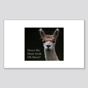 Alpaca with funny hairstyle Sticker