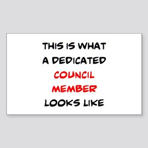 dedicated council member Sticker (Rectangle)