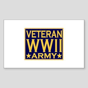 ARMY VETERAN WW II Rectangle Sticker