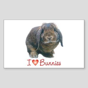 bunny lover Rectangle Sticker