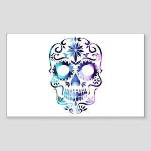 Blue & Purple Sugar Skull Sticker