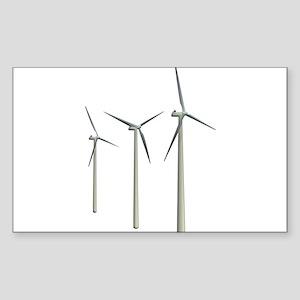 Wind Turbines Sticker (Rectangle)