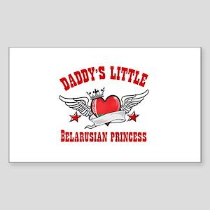 Daddy's Little Belarusian Princess Sticker (Rectan