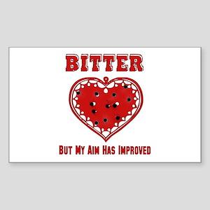Bitter Bullet Heart Rectangle Sticker