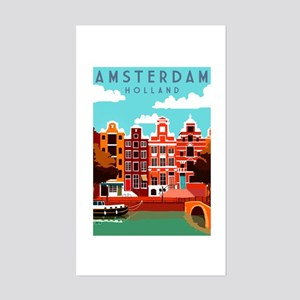 Amsterdam Holland Travel Sticker
