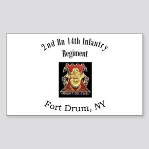 2nd 14th Inf Reg Sticker (Rectangle)