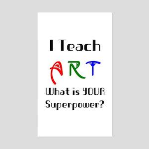 teach art Sticker (Rectangle)