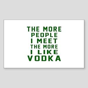 I Like Vodka Sticker (Rectangle)
