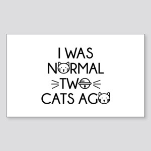 I Was Normal Two Cats Ago Sticker (Rectangle)