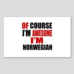 Of Course I Am Norwegian Sticker (Rectangle)