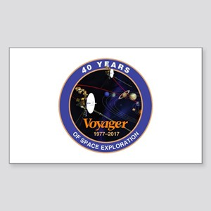 Voyager At 40! Sticker (Rectangle)