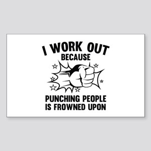 I Work Out Sticker (Rectangle)