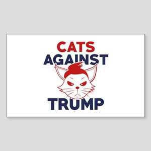 Cats Against Trump Sticker (Rectangle)