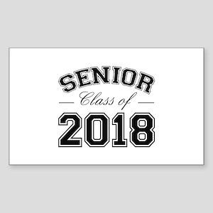 Class Of 2018 Senior Sticker (Rectangle)