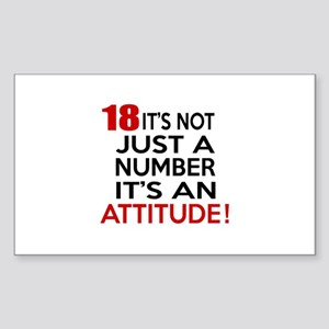 18 It Is Not Just a Number Bir Sticker (Rectangle)